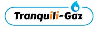 Logo tranquili gaz bleu