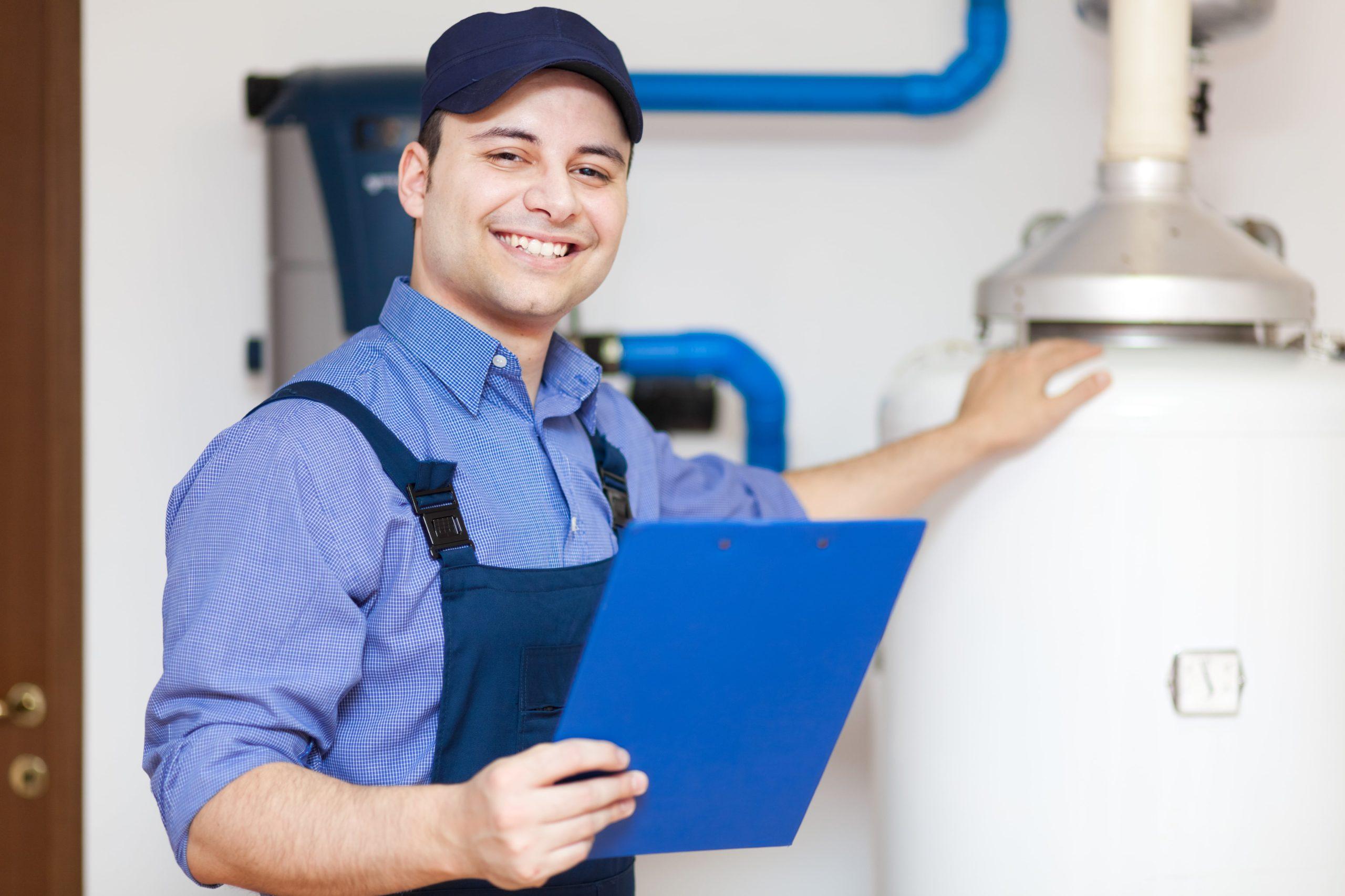 Techniciens pour remplacement chaudière